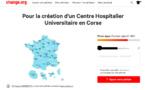 Une pétition pour la création d'un centre hospitalier universitaire en Corse