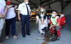"""Marlène Schiappa au service d'incendie et de secours de Corse-du-Sud : """"l'engagement citoyen passe par le temps donné aux autres"""""""