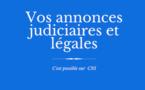 Les annonces judiciaires et légales de CNI