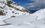 La photo du jour : lac de Puzzolu gelé