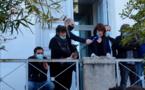 Hommage à l'enseignant assassiné, devant le rectorat d'Ajaccio
