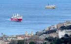 """Bastia : le """"Mega Andrea"""" et le """"Paglia Orba"""" au port après 10 heures d'attente au large"""