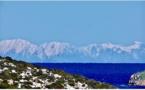Les Appenins vus du Cap Corse et de Bastia