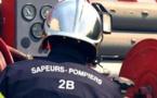 Gazinière en feu au 3e étage d'un immeuble de Borgo