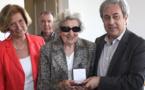 """Réception à la mairie de Calvi en l'honneur de """"Marie-Thé"""" Cardineau"""