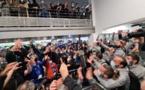 Bains de foule et chants de stade pour l'équipe du SCB à l'aéroport de Poretta