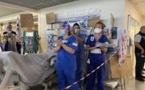 En images - A l'hôpital de Bastia, une grève de la réanimation très suivie