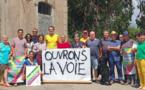 Agnès Simonpietri et ses colistiers ce jeudi 17 juin à Vescocato