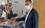 VIDÉO - Élections territoriales : le président de l'Exécutif, Gilles Simeoni, a voté