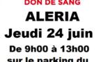 Don du sang : une collecte ce 24 juin à Aleria