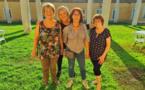 """Marie José Joly de France Alzheimer Corse """"U Vaghjimu"""" avec son équipe et Laetitia Maroccu présidente de l'association Donne e Surelle, partenaire de l'événement Crédit photo compte Facebook Laetitia Maroccu"""