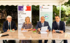 Lors d'un point presse en préfecture, Pascal Lelarge, préfet de Corse, et Christine Bessou-Nicaise, DRFIP de Corse, ont fait le point sur la conjoncture économique et les effets du plan France relance sur les entreprises corses, en présence de Patrick Bernié, sous-préfet à la relance, et de Didier Mamis, secrétaire général pour les affaires de Corse