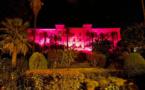Ajaccio : u Palazzu di a Cullettività se pare de rose en soutien aux femmes atteintes d'un cancer