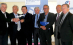 Jacques Bianchi, Philippe Dandrieux, François Mosconi, Marcel Leandri, Jean-Luc Espino, le docteur Roux et Paul Trojani