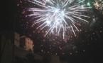 Feu d'artifice et bal des pompiers à Calvi