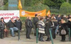 Ajaccio : Manifestation des employés du conseil général devant l'Assemblée
