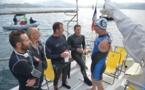 Porticcio : Premiers essais pour le tour de Corse à la nage en équipe de Thierry Corbalan