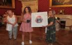 La médaille de la ville d'Ajaccio à Camille Pozzo di Borgo Prix Canson 2015