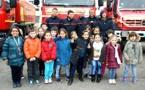 Les primaires de l'école Albert-Camus à la rencontre des pompiers de L'Ile-Rousse