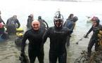 Nouvel exploit de Thierry Corbalan : Il a traversé le lac d'Annecy à la nage