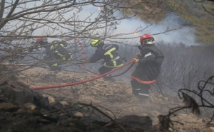 Feu de Bastelica: vents turbulents et mauvais temps compliquent la tâche des sapeurs-pompiers