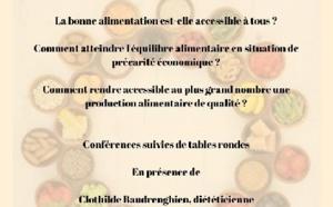 """Les conférences du CSJC: """"Vers une bonne alimentation accessible à tous"""""""