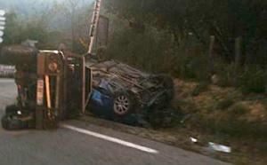Violente collision à l'embranchement de Veru : Deux blessés dont un dans un état de grave