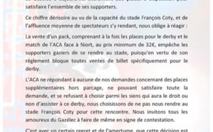 Derby ACA-GFCA : Les supporters Gaziers mécontents
