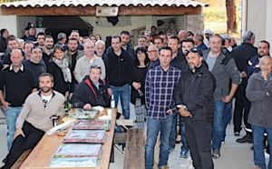 Pot de départ à la retraite au centre de secours de Calvi pour le Lieutenant Joël Brandaloni