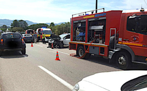 Trois blessés dans une collision à Lumio