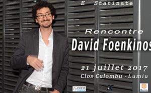 David Foenkinos au Clos Colombu de Lumio  le 21 juillet