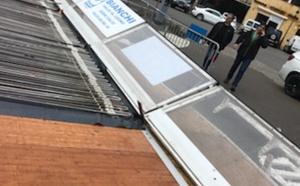 Tempête en Balagne : Dégâts importants à la patinoire et aux chalets de Noël à Calvi