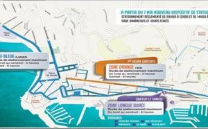 Zones de stationnement disponible à partir du 7 mai à Ajaccio