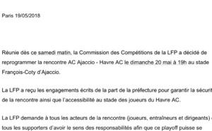 ACA-Le Havre : le match se jouera ce dimanche à 19h00 au stade François-Coty