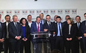 Le groupe parlementaire Libertés et Territoires, huitième groupe de l'Assemblée nationale.