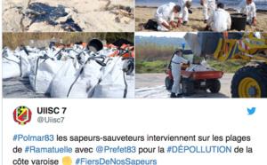 Plusieurs plages du Var polluées par des hydrocarbures après la collision au large du Cap Corse