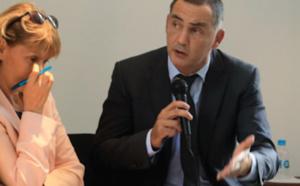 osiane Chevalier, préfète de Corse et Gilles Simeoni, président du Conseil exécutif de Corse