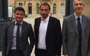 Les députés de Pè a Corsica, Jean-Félix Acquaviva, Paul-André Colombani et Michel Castellani.