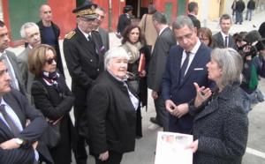 """La ministre s'est rendue sur les lieux des grands travaux entrepris par la ville de Bastia dans le cadre de """"Action coeur de ville"""""""