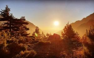 La photo du jour : lever de Soleil sur la vallée du Stranciacone