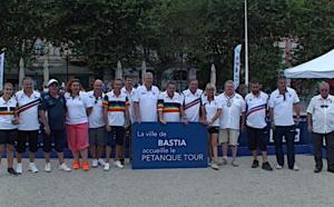 Les animateurs du Pétanque Tour en place à Bastia jusqu'à jeudi soir