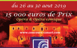 Le 12ème concours international de chant lyrique revient à Canari ce 26 août