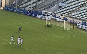 65ème minute de jeu : Bocognano inscrit le seul but de la partie sur penalty
