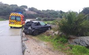 Corbara : Un accident de la route fait deux blessés