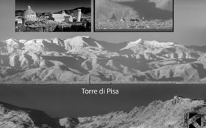 EN IMAGE - La tour de Pise visible depuis la Corse