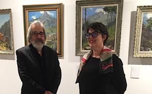Jean-Louis Mari et Marie-Hélène Giuly, chargée de médiation patrimoniale à Bastia