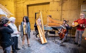 Les principaux acteurs en répétition ce matin à la Casa Musicale de Pigna (Photos Eyefinity Prod/Kevin Guizol