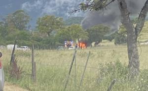 Porto-Vecchio : voiture en feu sur la route de Muratello