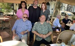 Chiara di Girolamo, Francesco Viglietti, Patrizia Gattaceca, Oreste Sachelli (animateur du festival) et Orlando Forioso.