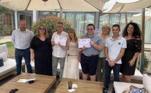 L'association Musanostra a remis les prix de son concours en langue corse à Michel Arrighi (à gauche) et à Lisandru Liccioni (à droite )
